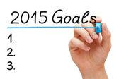 Goals 2015 Hand Blue Marker — Stock Photo