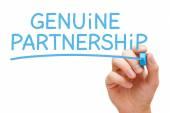 Echt partnerschap blauwe Marker — Stockfoto