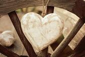 Rustic heart — Stock Photo