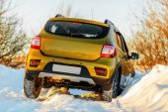 Car in snowdrift — Stock Photo