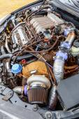 Turbine of charged car engine — Stock Photo