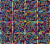 Ethnic seamless pattern ornament print design — Stock Vector