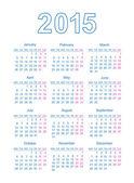 2015 kalender. vektor illustration — Stockvektor