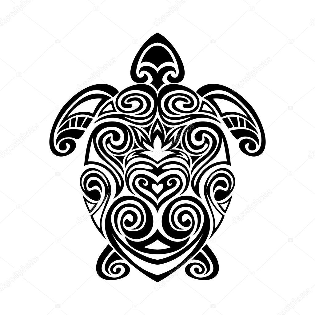 schildkr te in maori tattoo stil vektor illustrationen. Black Bedroom Furniture Sets. Home Design Ideas