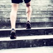 Jogger running on stairs sports training — Stock Photo #58434361