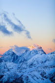 Mountains landscape Ushba Caucasus in Russia — Stock Photo