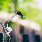 Vintage city bike retro handlebar — Stock Photo