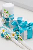 Beautiful wedding accessories — Stock Photo