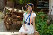 Ukrainian beautiful girl — Foto de Stock