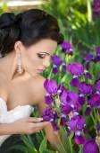 Bride with stylish make-up — 图库照片