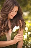 长头发的女人 — 图库照片
