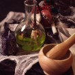Old accessories of witch — Stockfoto #65550475