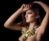 Fashion woman in jewelry — Stock Photo