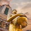 Big statue of Golden Buddha in Wat Arun or Temple of Dawn. Thailand — Stock Photo #52788039