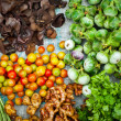 Fresh organic vegetables, herbs and spices at asian market — Stock Photo #53813625