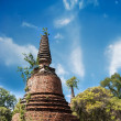 Asian religious architecture. Ancient ruins with growing trees u — Stock Photo #53813847