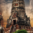 Asian religious architecture. Ancient Buddhist pagoda ruins at C — Stock Photo #53813903