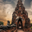 Asian religious architecture. Ancient Buddhist pagoda ruins at C — Stock Photo #53813929