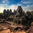 Amazing view of Bayon temple at sunset. Angkor Wat, Cambodia — Stock Photo #53814277
