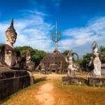 Statues at Wat Xieng Khuan Buddha park. — Stock Photo #54501909