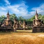 Statues at Wat Xieng Khuan Buddha park. — Stock Photo #54501921