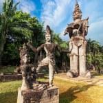 Statues at Wat Xieng Khuan Buddha park. — Stock Photo #54501945