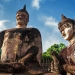 Statues at Wat Xieng Khuan Buddha park. — Stock Photo #54502035
