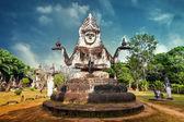 Statues at Wat Xieng Khuan Buddha park. — Stock fotografie