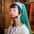 Karen Long Neck woman with brass coils — Stock Photo #55719383