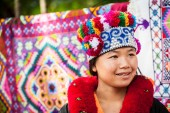 Yao tribe woman in traditional clothes — Stock Photo