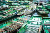 Vietnamese boats at river. — Stock Photo