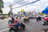 Road traffic at Ho Chi Minh City — Stock Photo