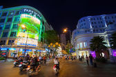 Scene of night life at Ho Chi Minh — Stock Photo
