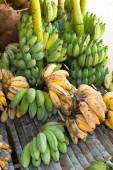 Bananas at asian market. — Стоковое фото