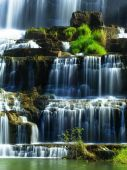 Rainforest landscape with Pongour waterfall — Stock Photo