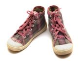 Pink tartan gumshoes  — Foto de Stock