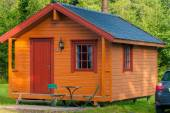 Norwegian camp — Stock Photo