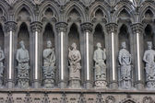 Sculptures of Trondheim church  — Stock Photo