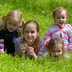 Girls outdoors — Stock Photo #59200795