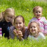 girls outdoors  — Stock Photo #59200809