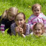 girls outdoors  — Stock Photo #59200817