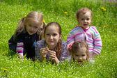 girls outdoors  — Stock Photo
