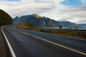 Lofoten road — Stock Photo