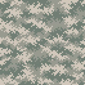 Military camouflage pixel pattern seamlessly tileable — Stock Photo