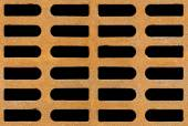 Rusty drain grate seamless background texture — Stock Photo