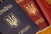 Passports of citizens of Russia and Ukraine — Stock Photo