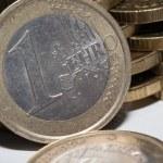 jedno euro mince — Stock fotografie #55467949