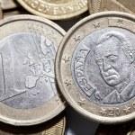 moeda de um euro — Fotografia Stock  #55467955