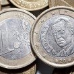 jedno euro mince — Stock fotografie #55467955