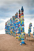 Guardians of the Buddhist sacred places on Baikal — Stock Photo